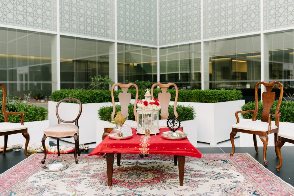 Pink and Coral Wedding Ceremony at Aga Khan Museum