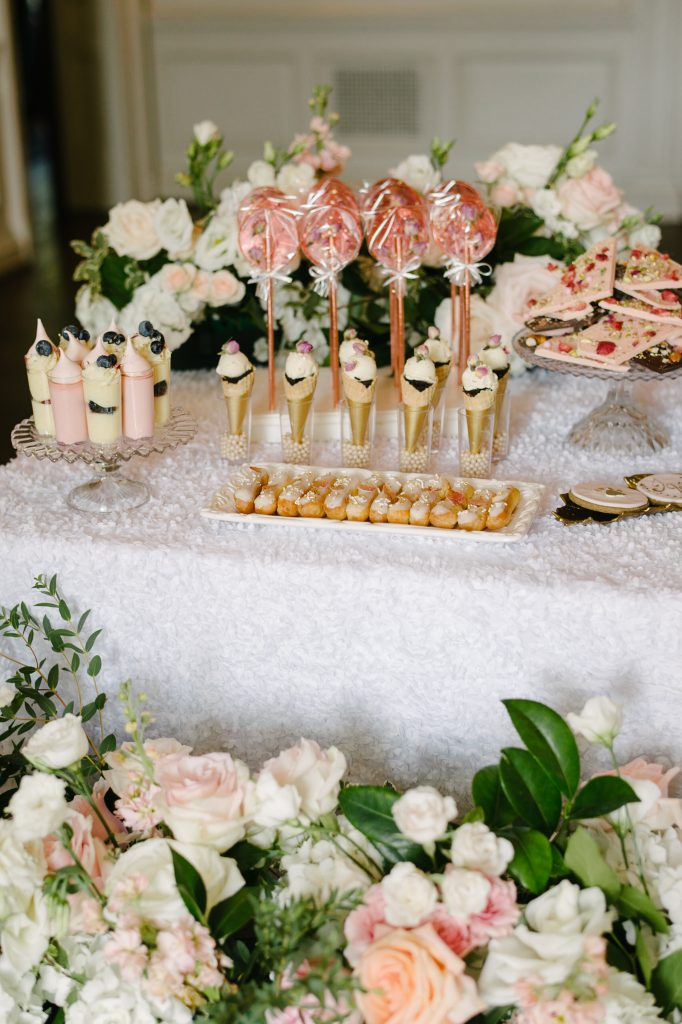 Luxurious sweets table - Beautiful outdoor wedding at Graydon Hall Manor