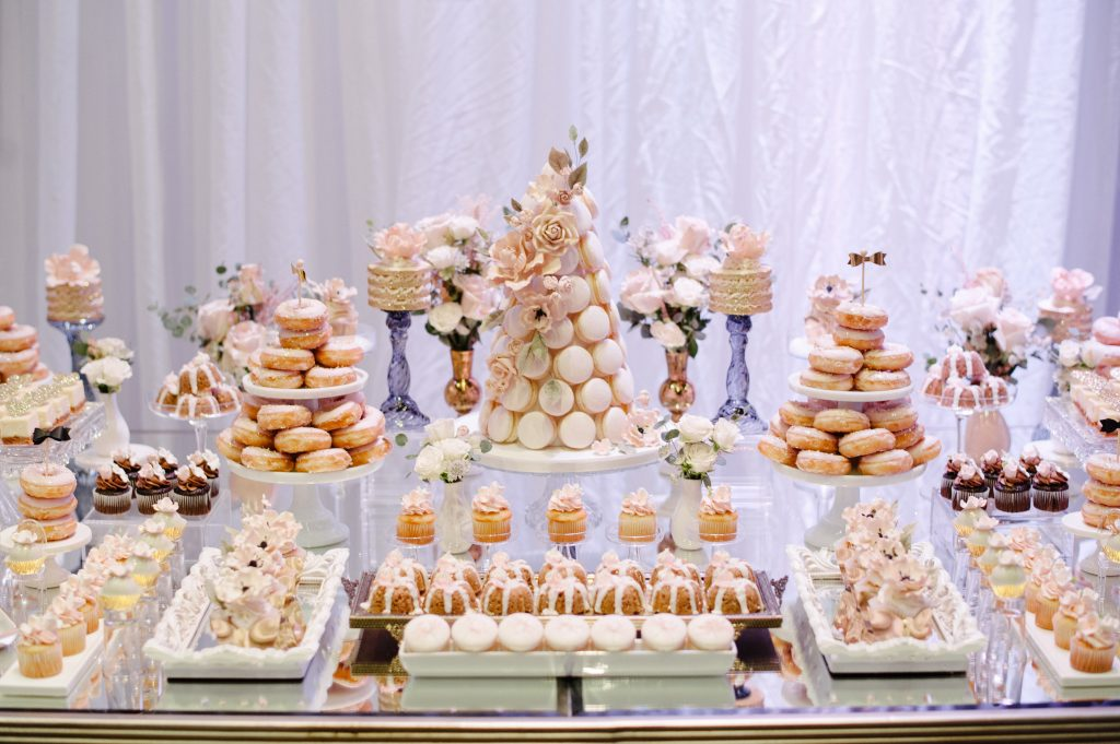 Luxurious Enchanted Garden Wedding Sweets Table, with Rebecca Chan Weddings and Events www.rebeccachan.ca