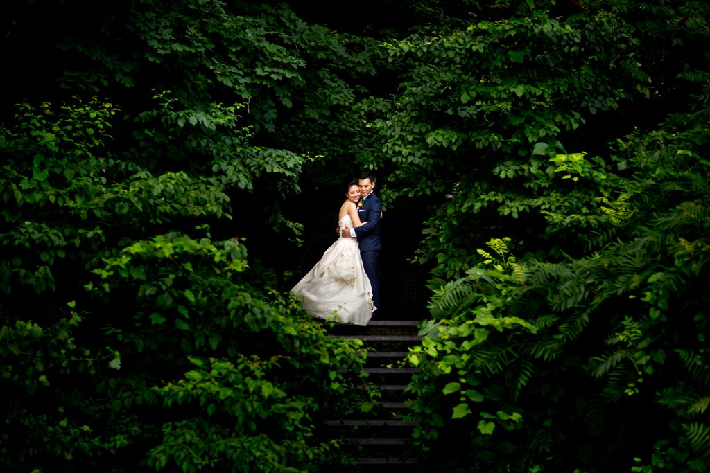 Quirky and Organic Chinese Evergreen Brickworks Wedding