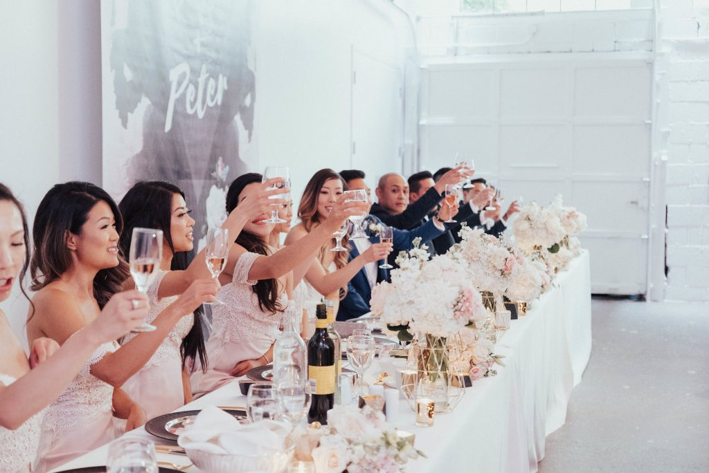 Modern and Graphic Wedding at Airship37