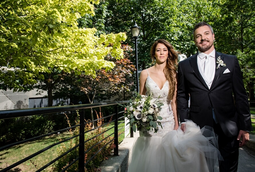 Chic, white and green wedding at Royal Conservatory Of Music