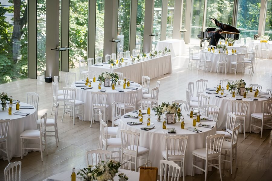 Chic White And Green Royal Conservatory Of Music Wedding
