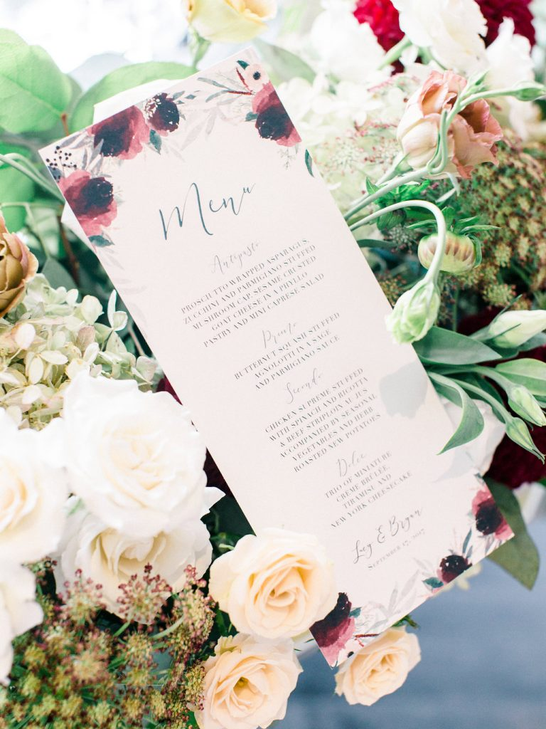 Modern red garden inspired wedding at Doctor's House