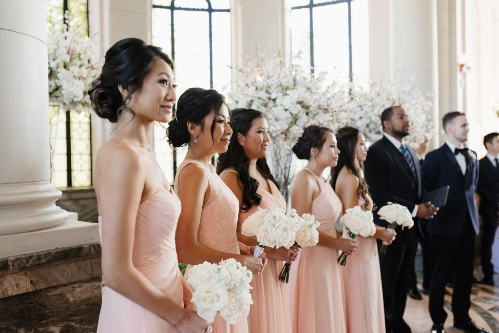 Beautiful Modern White and Blush Wedding at Casa Loma