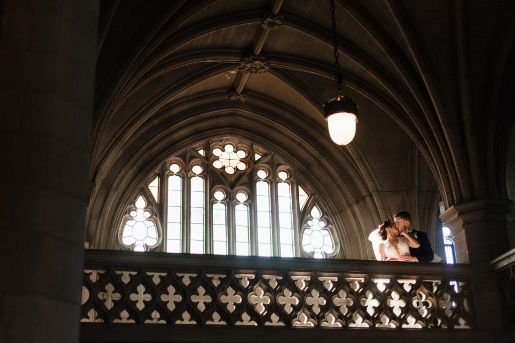 Beautiful Modern White and Blush Wedding in Toronto at Knox College Chapel