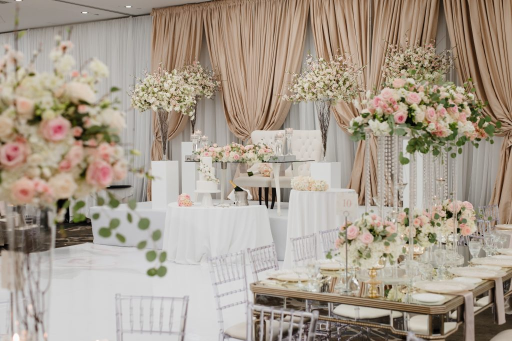 Beautiful Modern White and Blush Wedding in Toronto