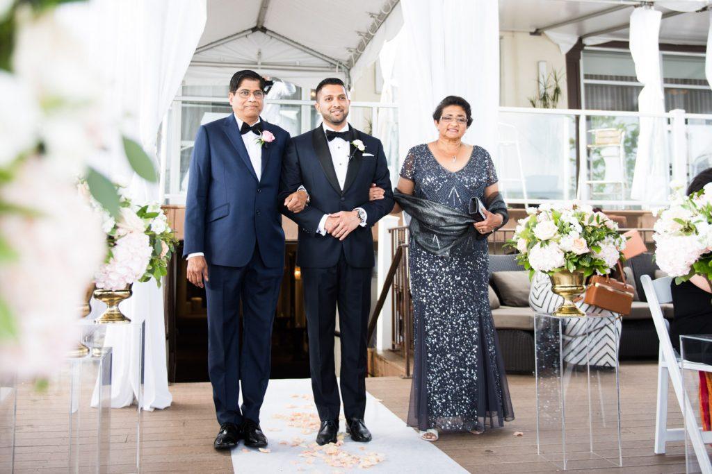 Romantic blush wedding at Palais Royale