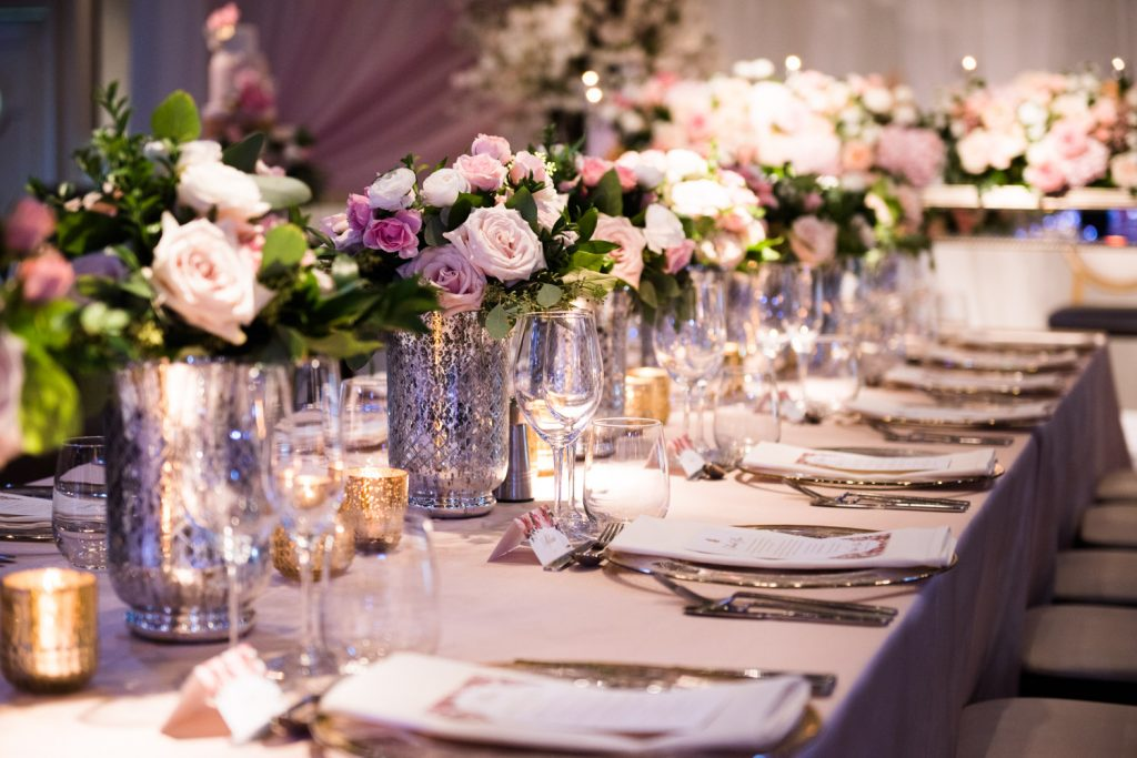 Romantic blush wedding at Palais Royale