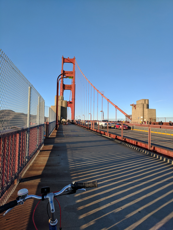 San Francisco urban getaway ideas - Bike the harbourfront, Golden Gate Bridge and Sausalito