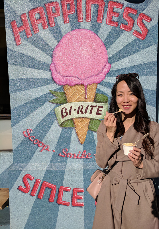 San Francisco urban getaway ideas - Enjoy artisanal gelato at Bi-Rite