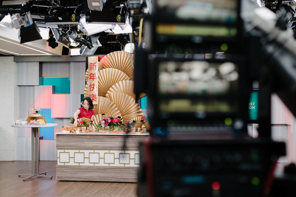 Behind the scenes - Chinese New Year decorating ideas on Breakfast Television