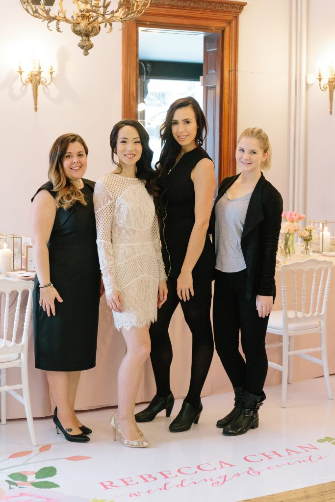 The Rebecca Chan Weddings & Events team at the Rebecca Chan Workshop 2018