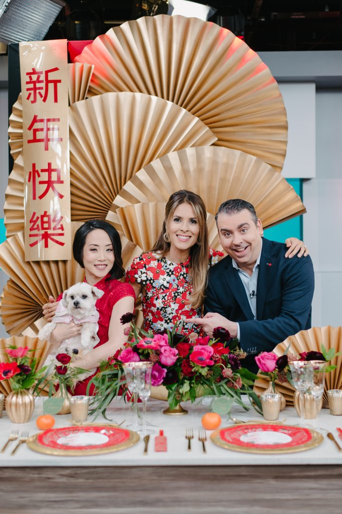 Rebecca Chan on Breakfast Television for Chinese New Year decor ideas