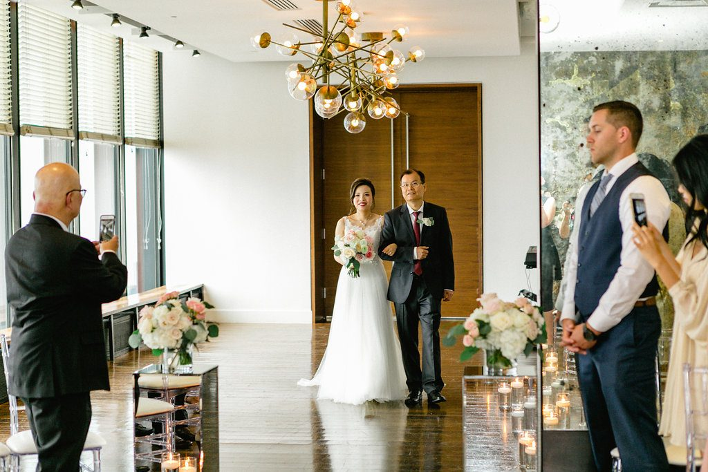 Romantic Blush Wedding at Canoe Restaurant/