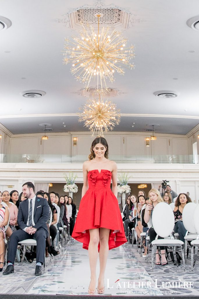 Wedding Academy at the Omni King Edward Hotel - Red cocktail dress from Narces