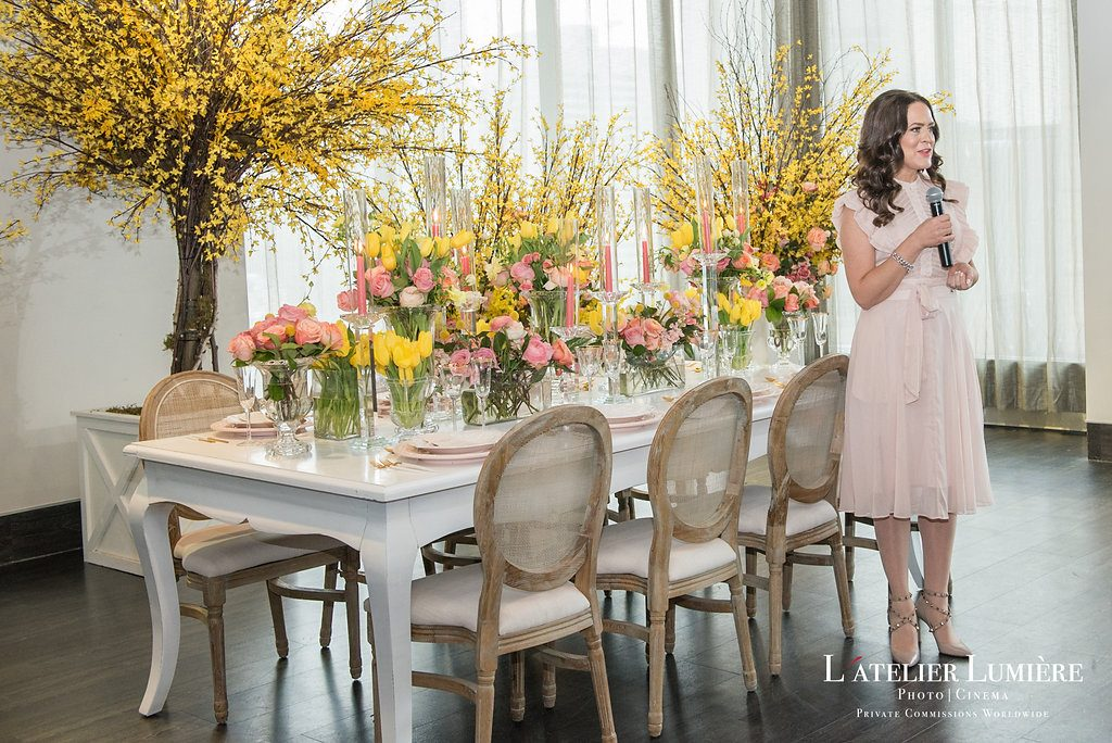 Wedding Academy at Arcadian Loft - Rachel A. Clingen speaking on floral design ideas