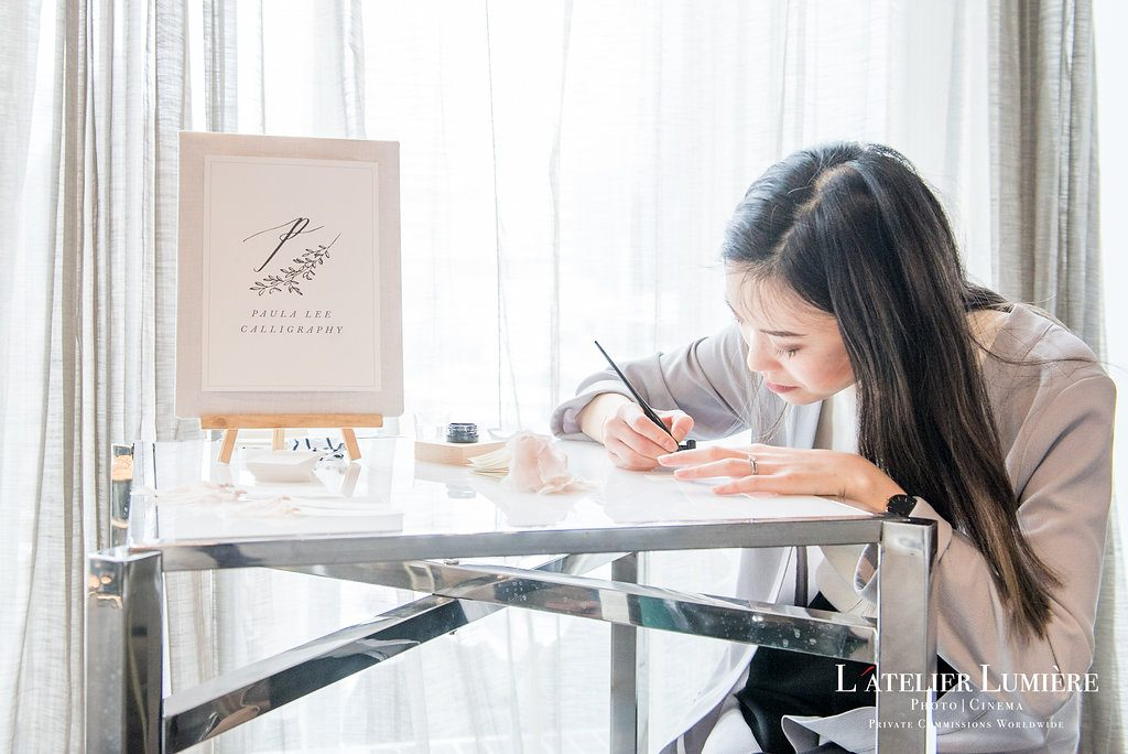 Wedding Academy at Arcadian Loft - Live calligraphy with Paula Lee Calligraphy