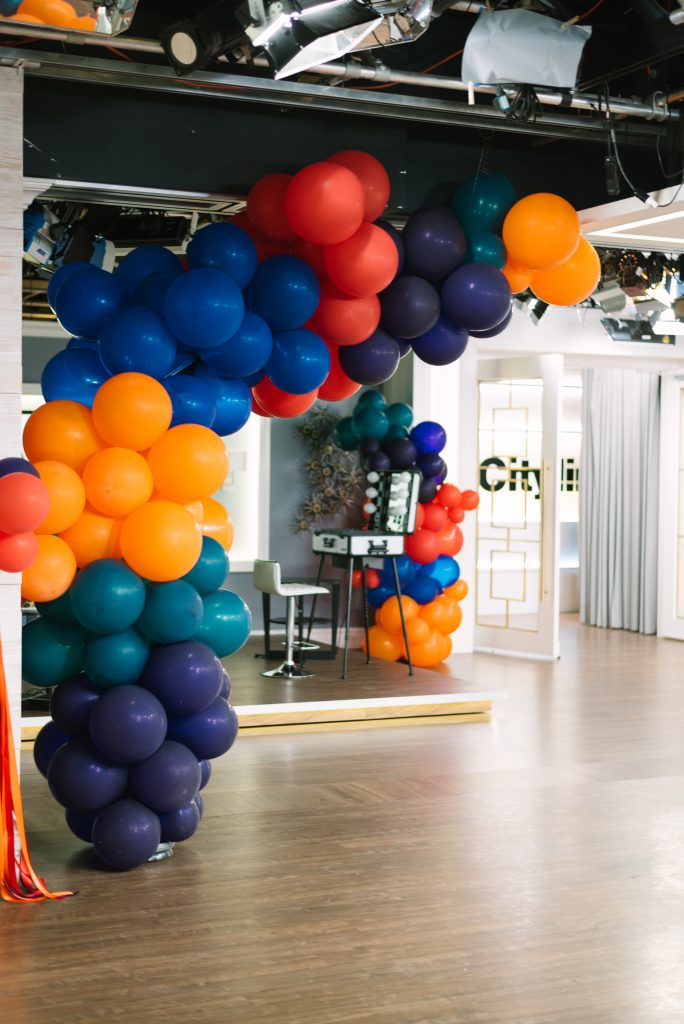 Balloon installation spill - Cityline Prom Special Party Planning tips with Rebecca Chan Weddings and Events. and Tracy Moore