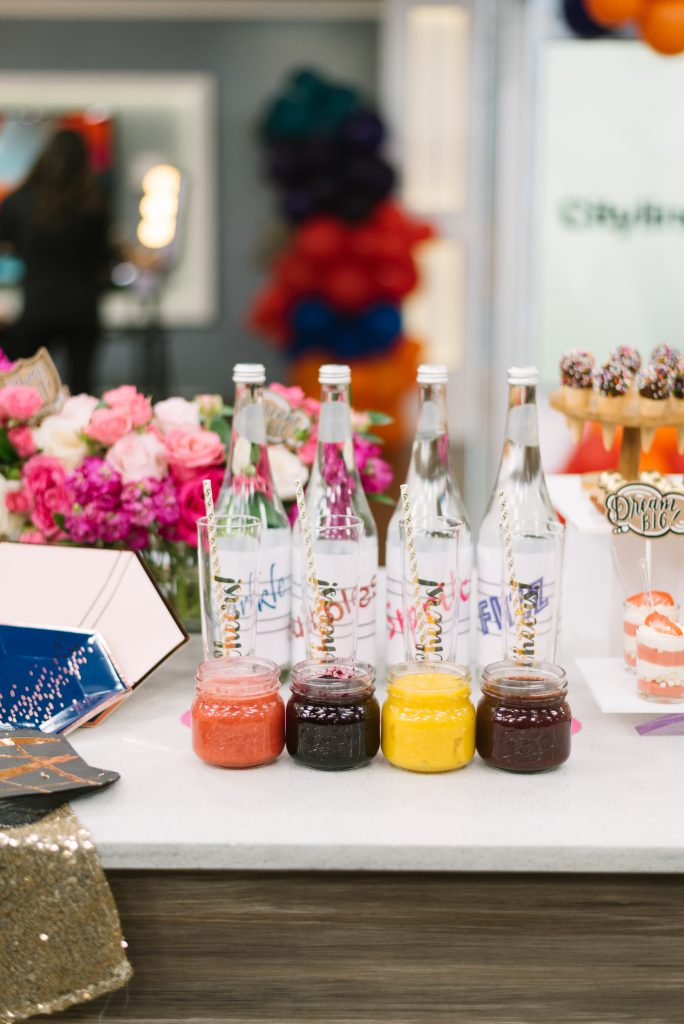 Mocktail station with fruit puree - Cityline Prom Special Party Planning tips with Rebecca Chan Weddings and Events. and Tracy Moore