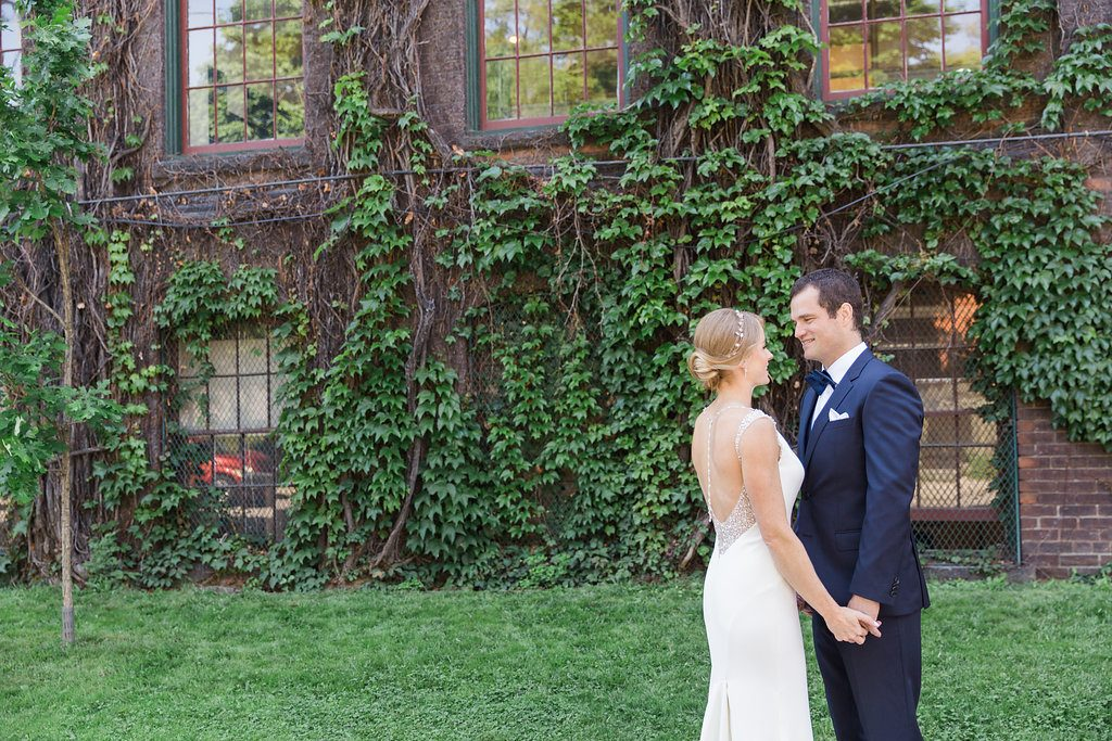 Romantic Urban Toronto Restaurant Wedding