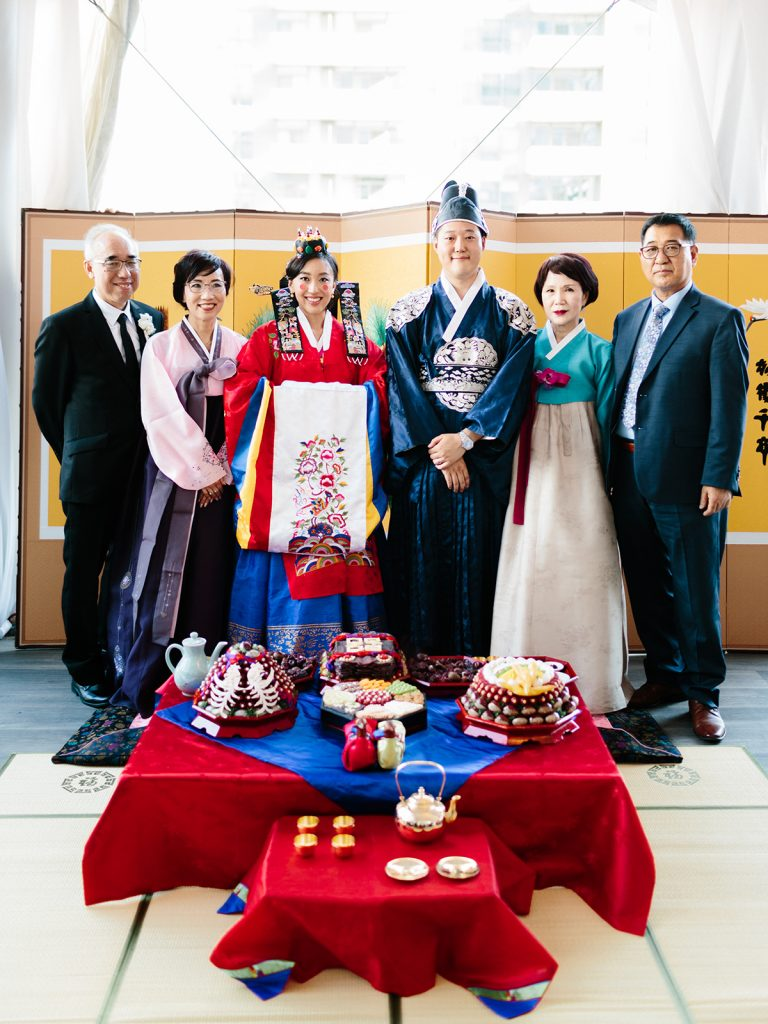 Modern Korean Chestnuts Wedding Ceremony at Malaparte Toronto