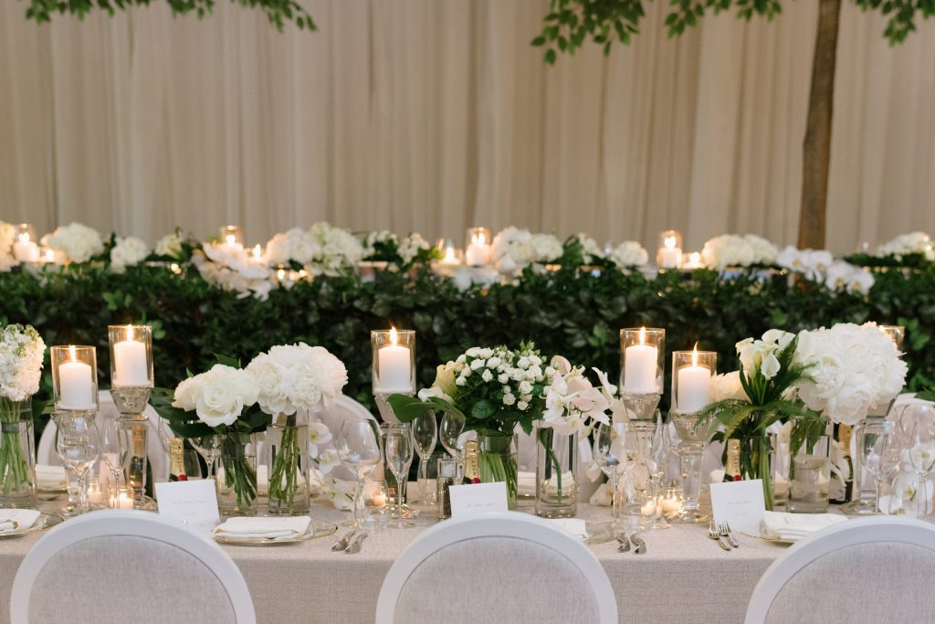 Royal Wedding Inspired Garden Wedding Reception at Arlington Estate