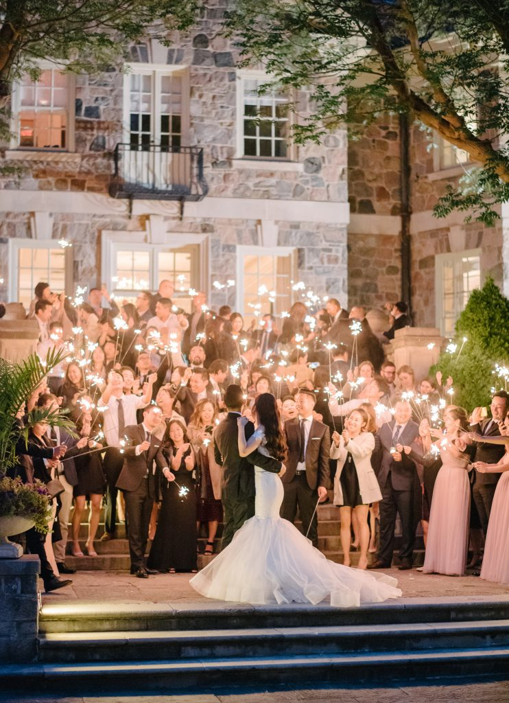 Sparkler first dance at Graydon Hall Manor