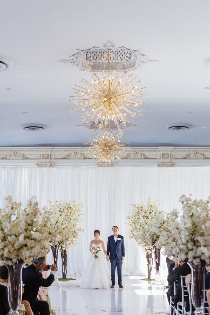 Stunning blush and lavender wedding at King Edward Hotel's Crystal Ballroom