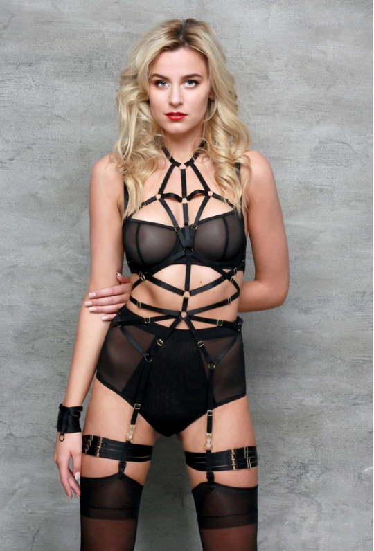 Holiday Gift Guide - Give the gift of sexy with this Magdalena Playsuit from The Nookie Shop in Toronto