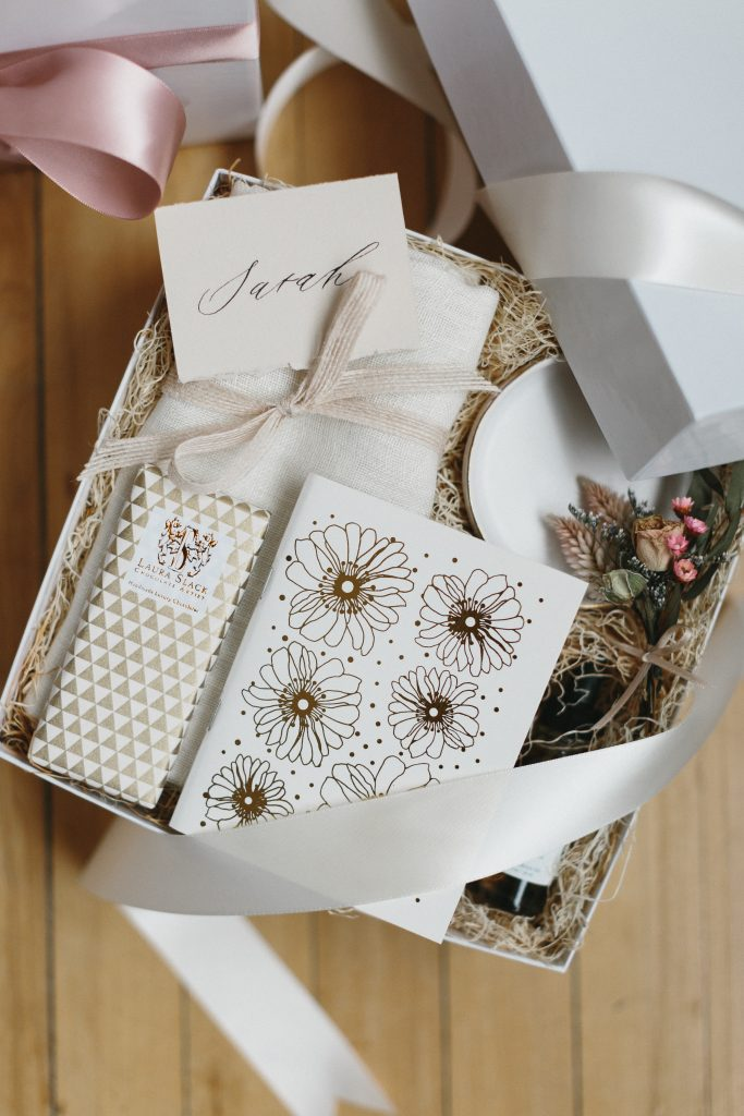 Holiday gift guide for bridesmaids - Curated gift box with artisan items