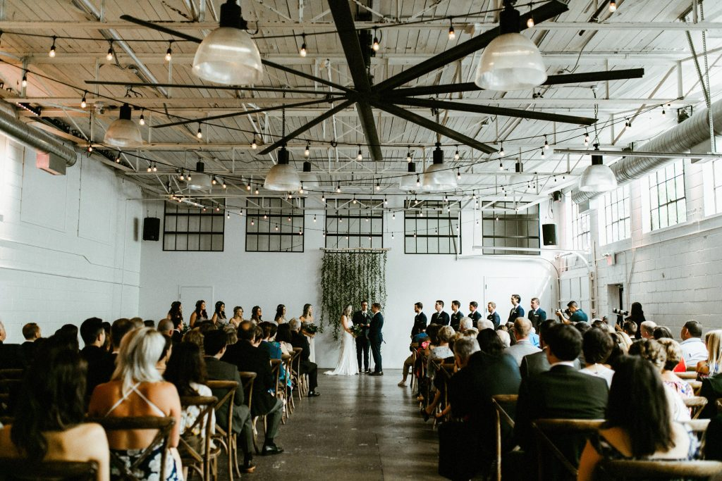 Rustic Wedding Ceremony at Airship37 Toronto