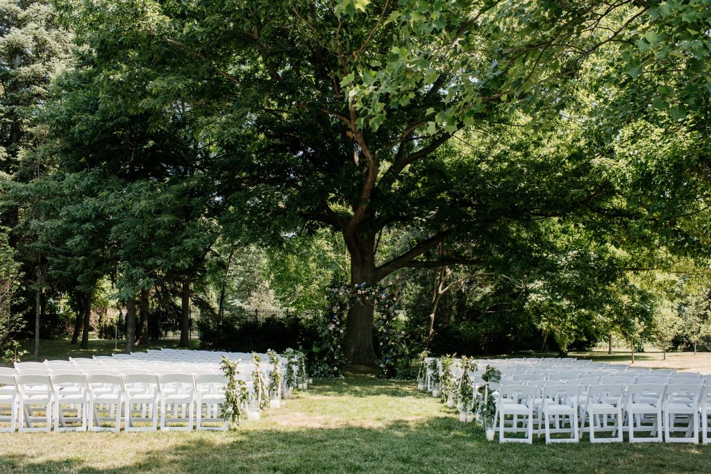 Fun Boho-Chic Wedding Ceremony at Kurtz Orchards Farm
