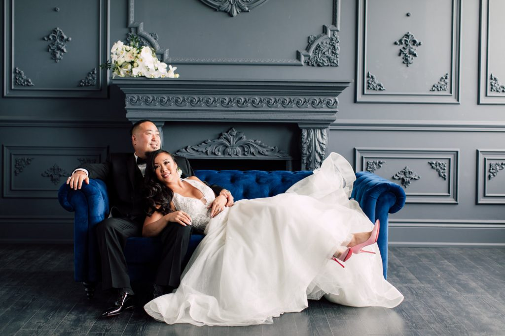 Modern wedding photoshoot at Mint Room Studios