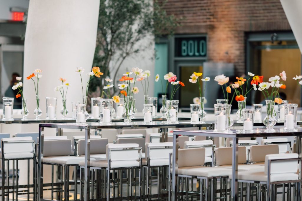 Whimsical and Mediterranean spring decor - Eventsource Industry Bash at Ricarda's