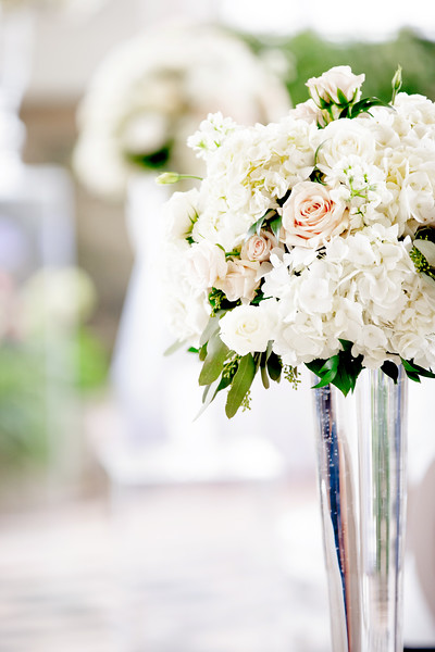 White florals at Casa Loma wedding