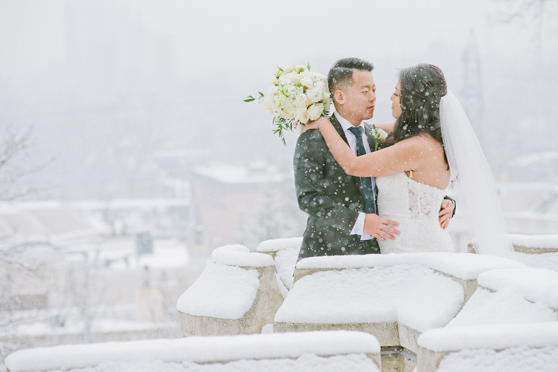 Casa Loma winter wedding