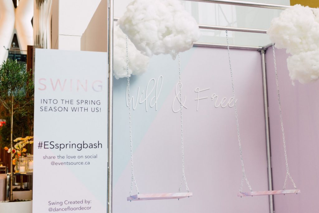 Whimsical sswing - Eventsource Industry Bash at Ricarda's