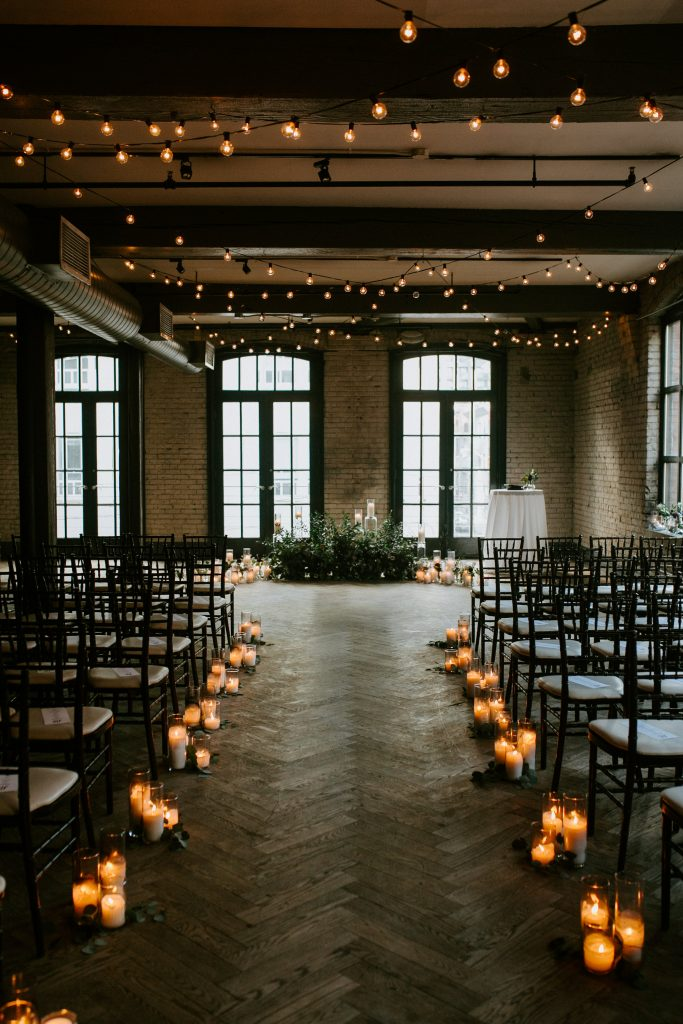 Storys building rustic wedding reception