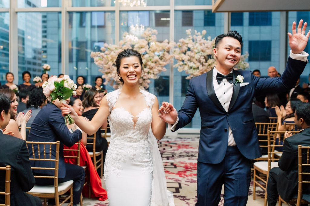 Wedding ceremony at Shangri-La Hotel Toronto