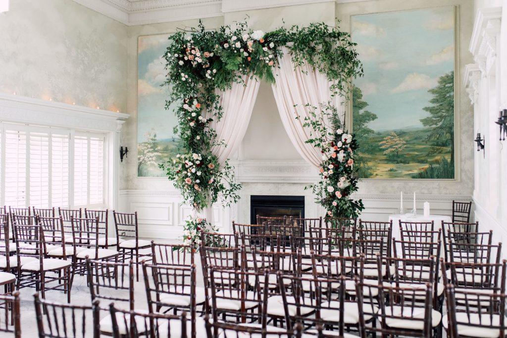 Indoor ceremony at Graydon Hall Manor