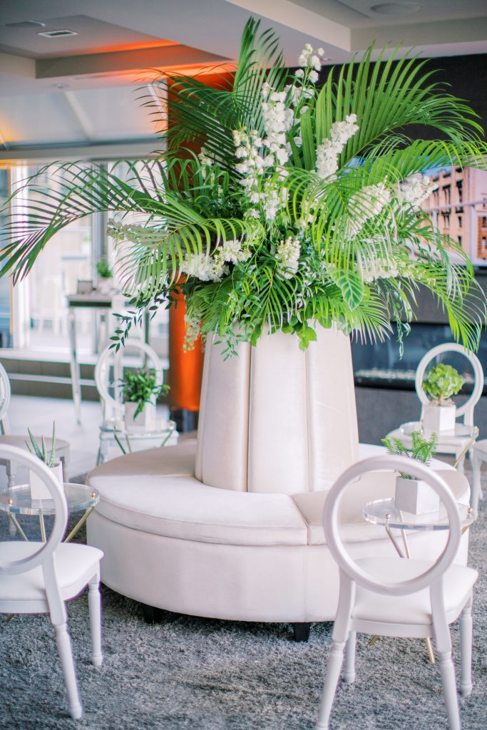 One King West Summer Social in Suite Fifteen Hundred with wrap around terrace and tropical vibes