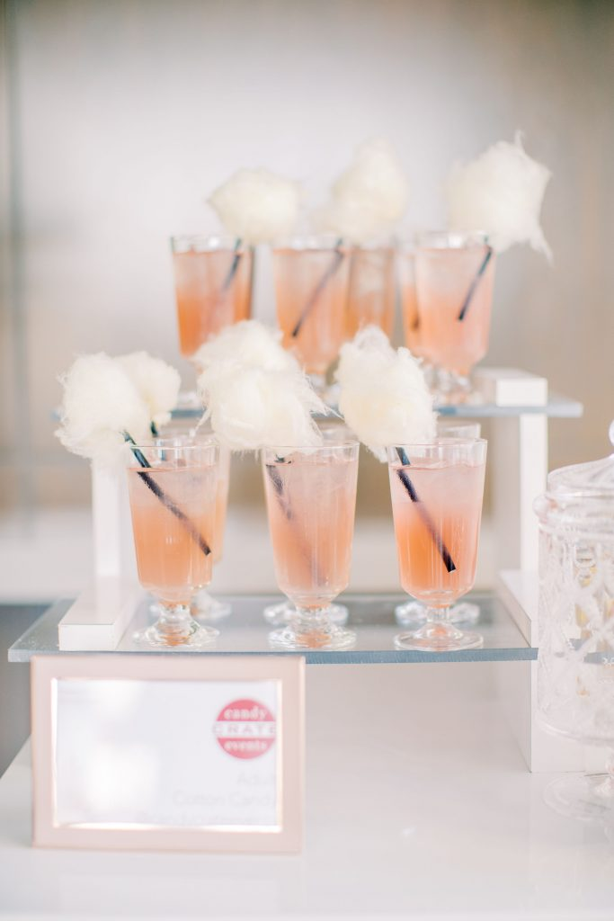 Cotton candy cocktails