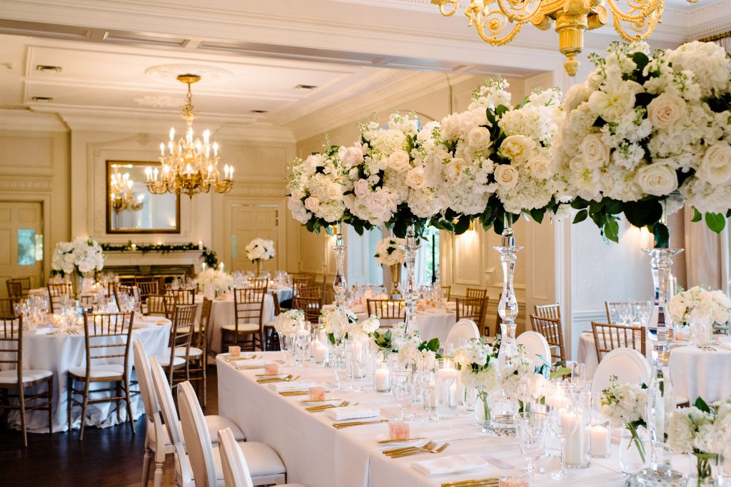 Luxurious white wedding at Graydon Hall Manor