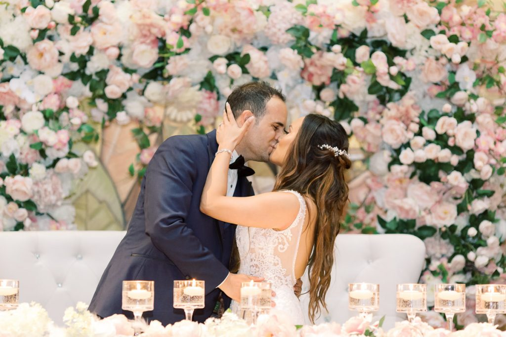 Blush and coral wedding at Eglinton Grand