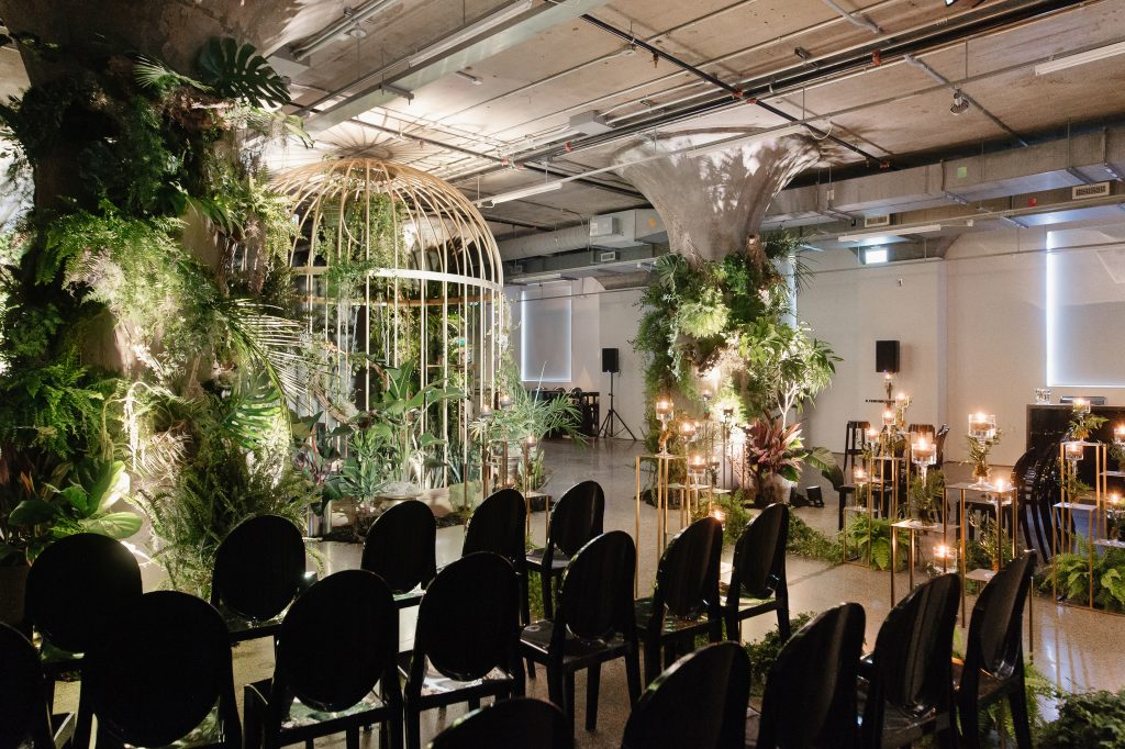 Featured on Wedluxe - Urban Jungle Wedding in a Museum
