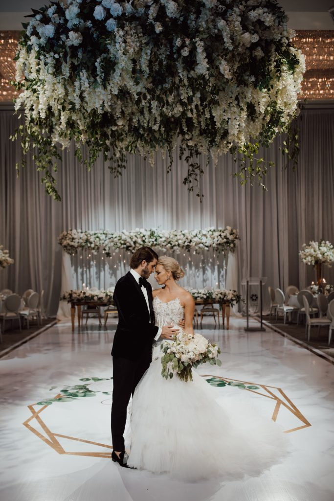 Featured on Wedluxe - Luxurious Classic White Wedding with NHL Player Mike Hoffman