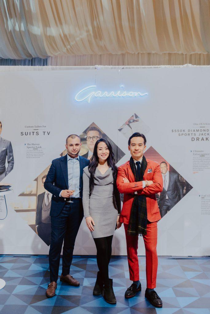 Rebecca Chan with owner of Garrison Bespoke, Michael Nguyen