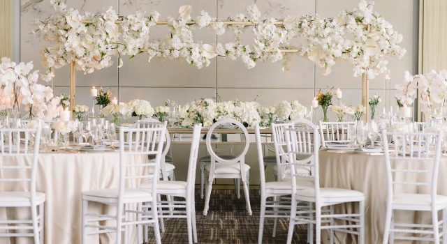 Modern luxurious all white wedding at Four Seasons Hotel Toronto