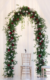 Traditional floral arch